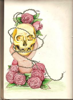skulls and roses 2 by charly-d-squirrel