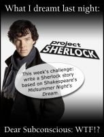 Dreams of Sherlock... by GeorgeWiseman