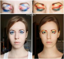 Captain America - Iron Man make-up by MigraineSky