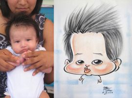 caricature- baby 09 by chrisCHUA