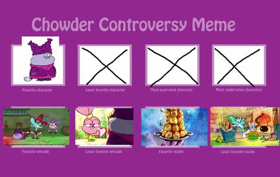 My chowder controversy meme by TheCartoonWizard