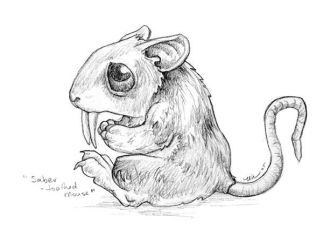 Saber-Toothed Mouse by ursulav