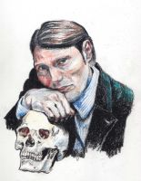 Mads Mikkelsen as Hannibal by Mellicookie