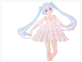 [MMD] Cute Short Flower Dress Download! by AyaneFoxey