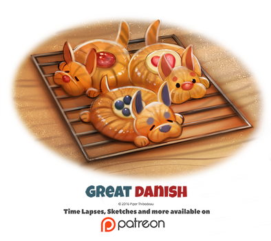 Day 1384. Great Danish by Cryptid-Creations
