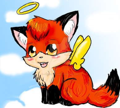 Cuteness attack: CK on a cloud by ChristianKitsune