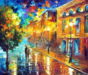 Near The Morning by Leonid Afremov by Leonidafremov