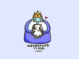 Gunter and The Ice  King by saranghae012