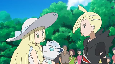 Lillie introtuced Snowy to her Brother, Gladion by WillDynamo55