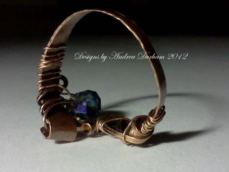 Copper twisted wire wrapped ring by designsbyandrea