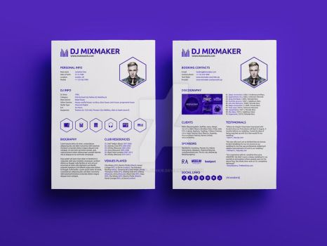 MixMaker - DJ Resume / Press kit PSD Template by iamvinyljunkie