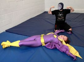 EVANGELINE VON WINTER AS BATGIRL vs THE MACHINE! by sleeperkid