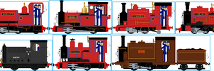 RWS Skarloey Engines by Galaxy-Afro