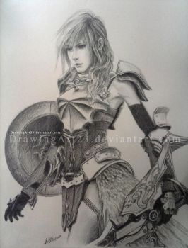 LightningFarron - The Warrior of Light by DrawingArt23