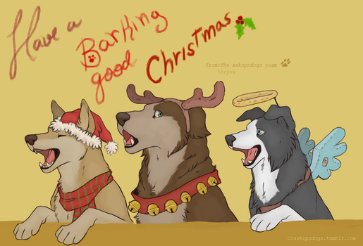 Happy Howllidays from the supernatural gang by Sammaella