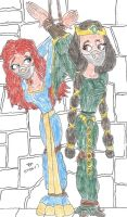 WCB MOTHERS DAUGHTERS Elinor and Merida Brave by Godzilla713
