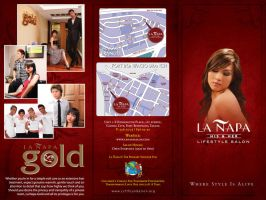 La Napa Salon Trifold outside by Click-Art