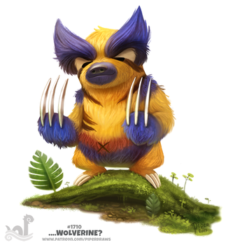Daily Painting 1710# ...Wolverine? by Cryptid-Creations