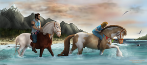 Collab NIEC Endurance 2016 - Splashing Through by KittycatNita