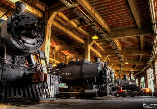 Southern Railway Roundhouse - Spencer, NC by Bulephotography