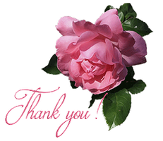 Thank-you with Rose by Euselia