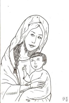Mary and infant by FFF66