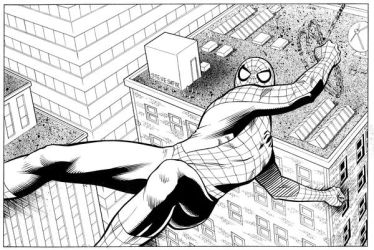 spidey black and white by stevesafir
