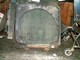 junk yard - radiator grill by JensStockCollection
