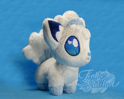 Chibi Alola Vulpix by FeatherStitched