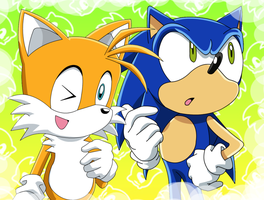 Sonic and Tails by Kittykun123
