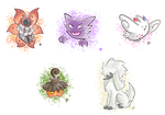 Pokemon Doodles by BeckHop