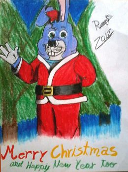 [Traditional] Happy Christmas Everyone x3 by BonnieBunny2