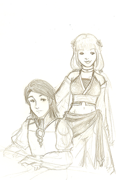 Larsa and Penelo FFXII by SirLadySketch