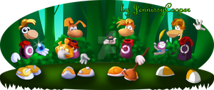 The Evolution of Rayman by EmilieSushi