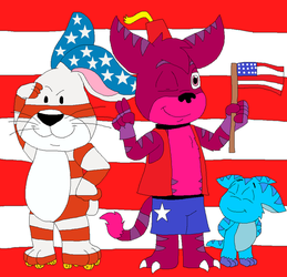 Happy July 4th from Jamarion and American Rabbit by JustinandDennis