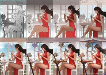 Katana Shoujo process by magion02