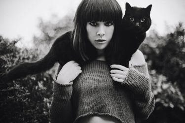 me and kitty. by CaitlinWorthington