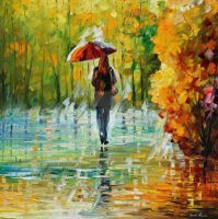 The Beauty Of The Rain by Leonid Afremov by Leonidafremov