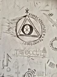 Occult and Runic Doodle by theNEWoath