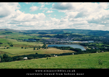 Reservoirs from Hobson Moor by scribblingninja