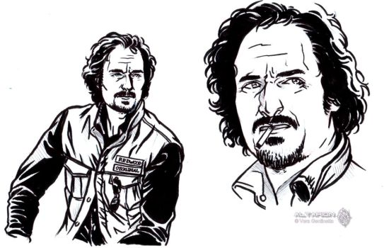 Sons of Anarchy quick sketch: Tig by whiteshaix