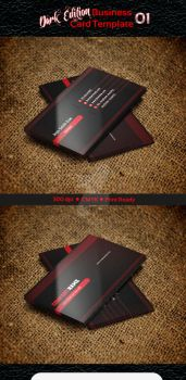 Dark Business Card Template by ExtremeLogo