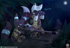 The Night Shooter [Commission] (Speedpaint) by FireEagle2015