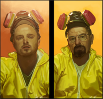 Walt and Jesse by Mattessom