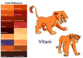 TLK Vitani Color Reference by FeralHeartsFan