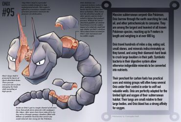 Onix Anatomy- Pokedex Entry by Christopher-Stoll