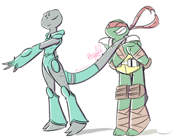 Raph and Mona by penguinsfan90