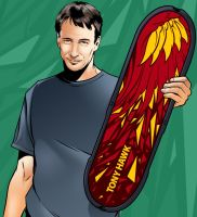 Tony Hawk by handtoeye