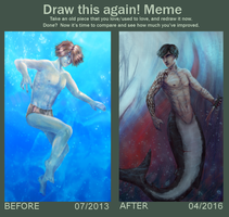 Meme Before And After: Underwater by R-Aters