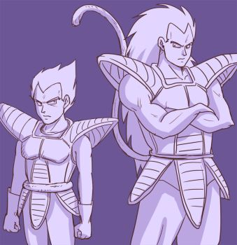 Vegeta and Raditz by J-666